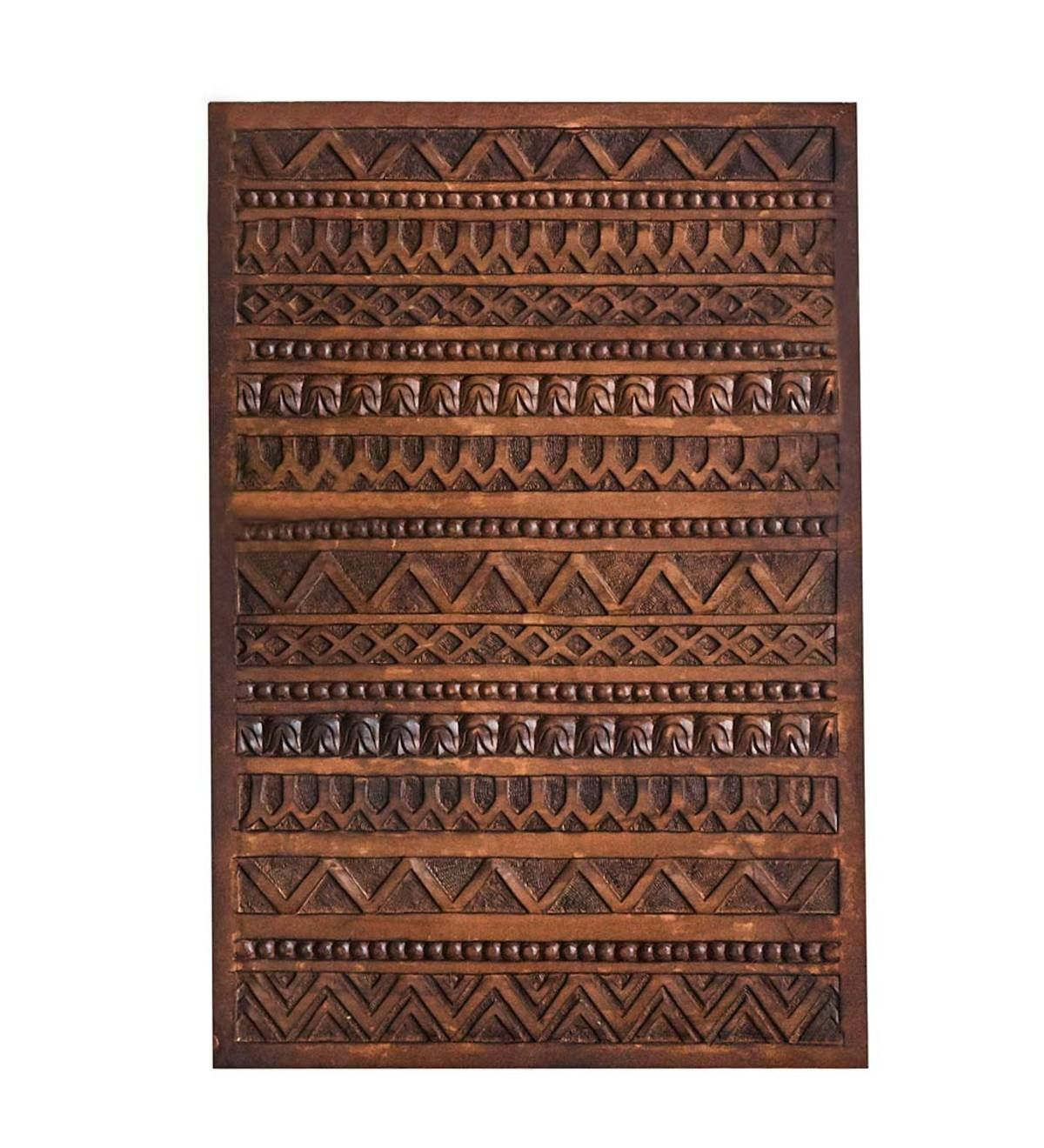 Hand Carved From Mango Wood In India This Bernini Wood Wall Hanging Is A Sculptural Work Of Art Intricate In D Carved Wood Wall Art Carved Wall Art Wood Wall