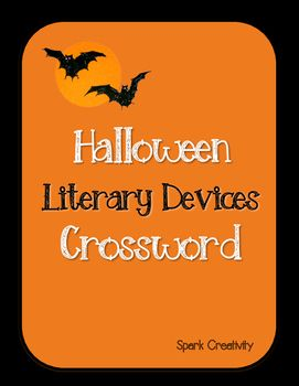 Halloween Literary Devices Crossword Puzzlewhats Insideliterary