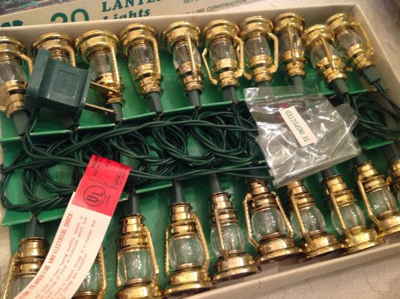 Love these vintage Christmas lights they are too cute with the little lanterns, I can see them in a cabin, cottage or even a farmhouse! I have