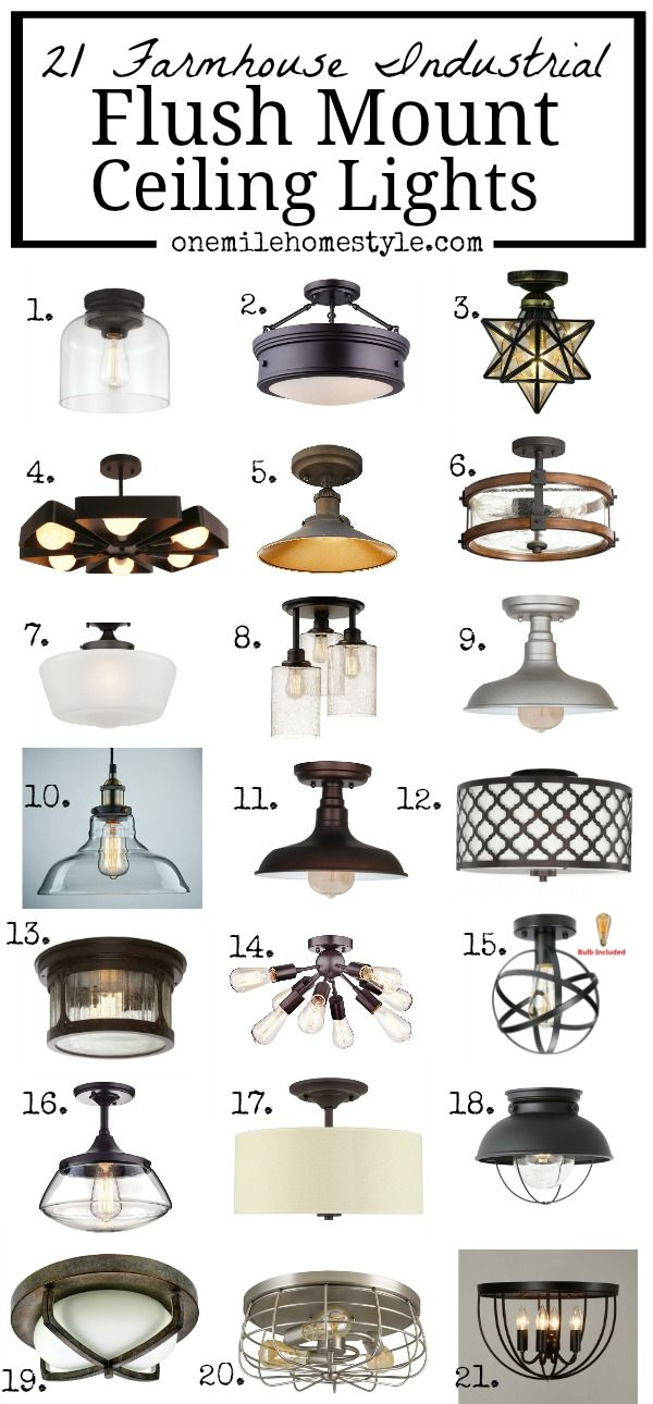21 Farmhouse Industrial Flush Mount Ceiling Lights