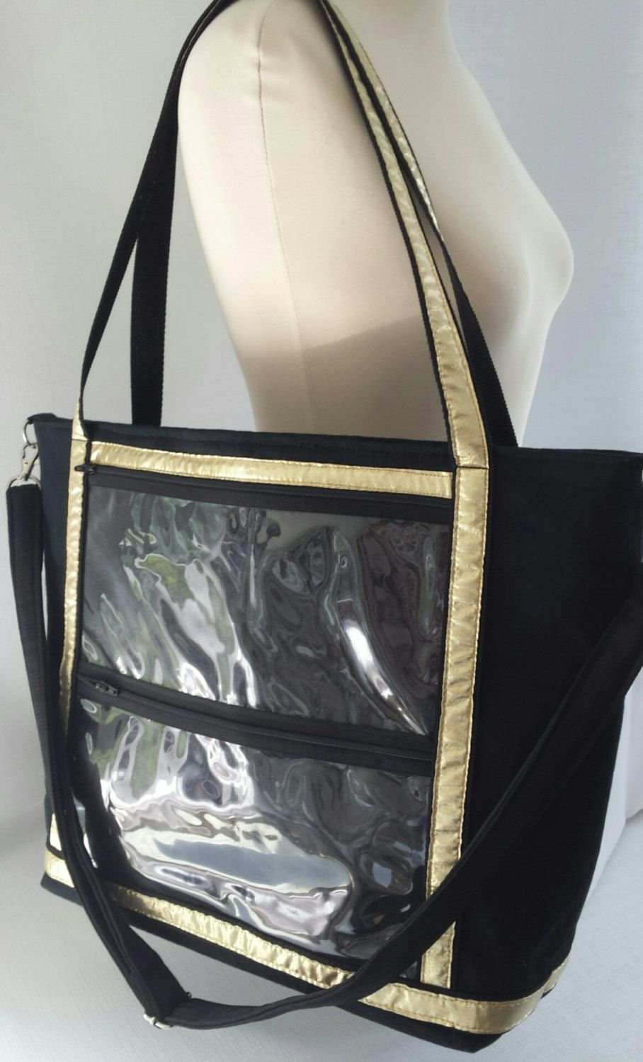 6e8667277e ... Tote bag. .direct sales reps clear window advertise biz bag. cross body  bag. shoulder bag..see through pocket catalogue by Trendytotesbydeb on Etsy