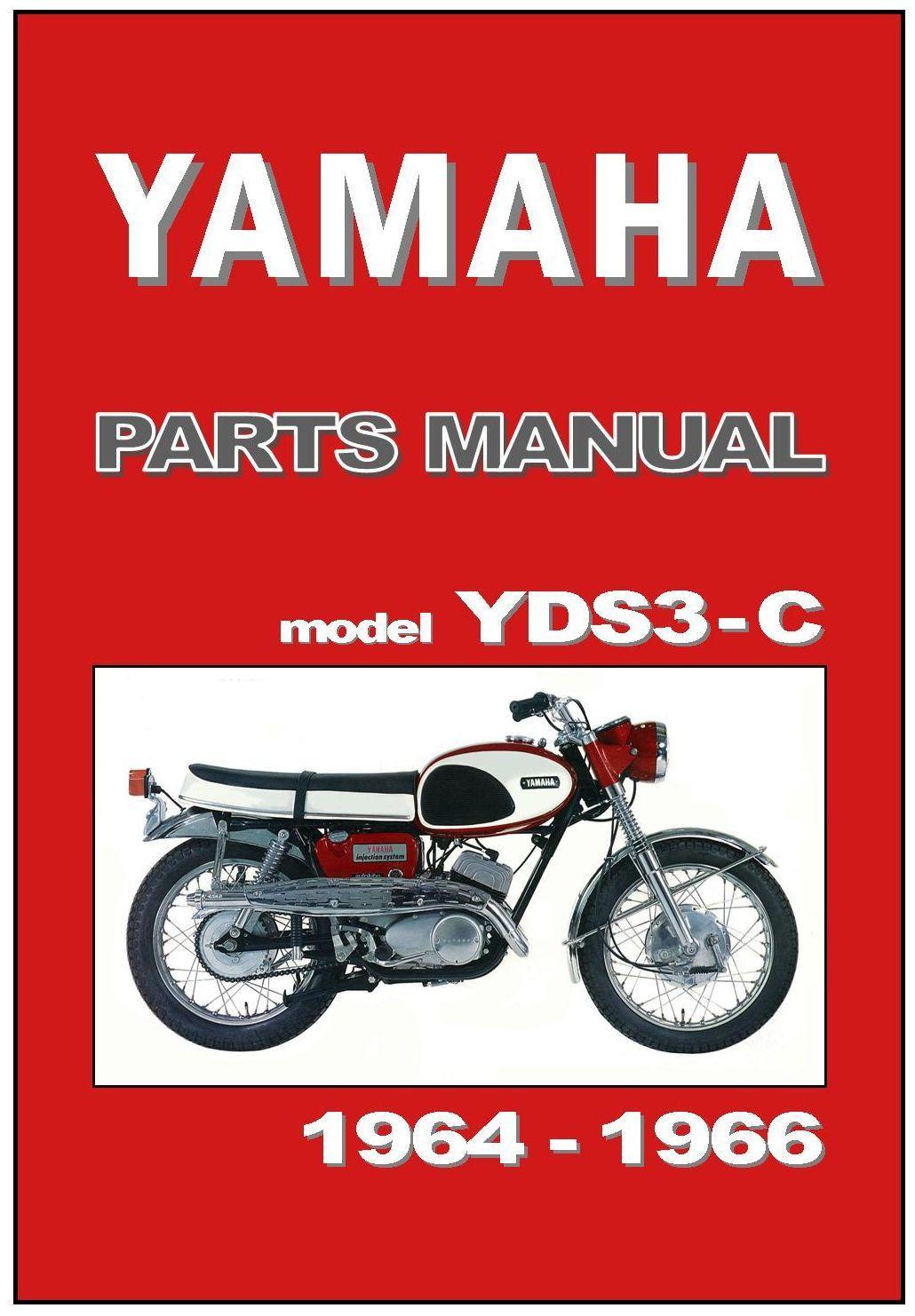 YAMAHA Parts Manual YDS3 YDS3C YDS3-C 1964 1965 1966 Spares Catalog List |  eBay