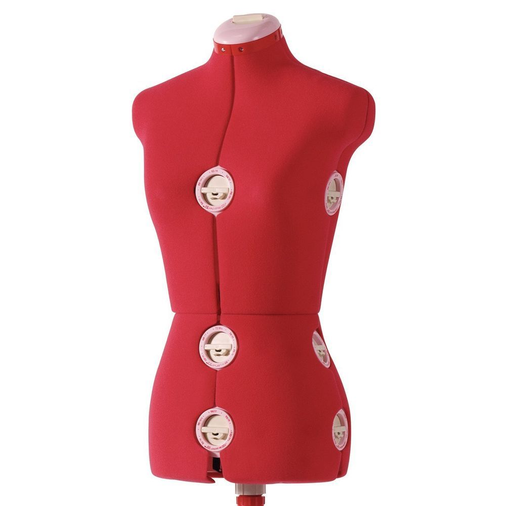 Dress form red 12 dial fabric backed large adjustable