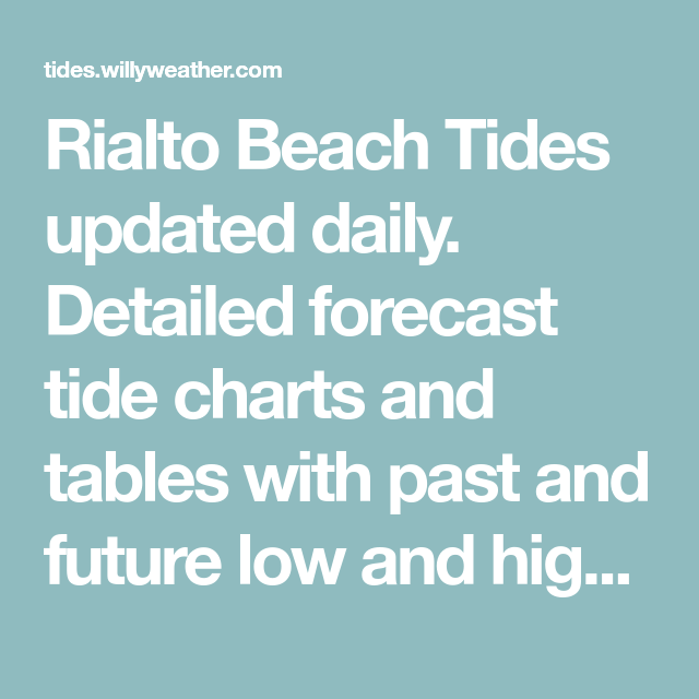 Rialto Beach Tides Updated Daily Detailed Forecast Tide Charts And Tables With Past And Future Low And High Tide Times Rialto Beach Clallam County Tide