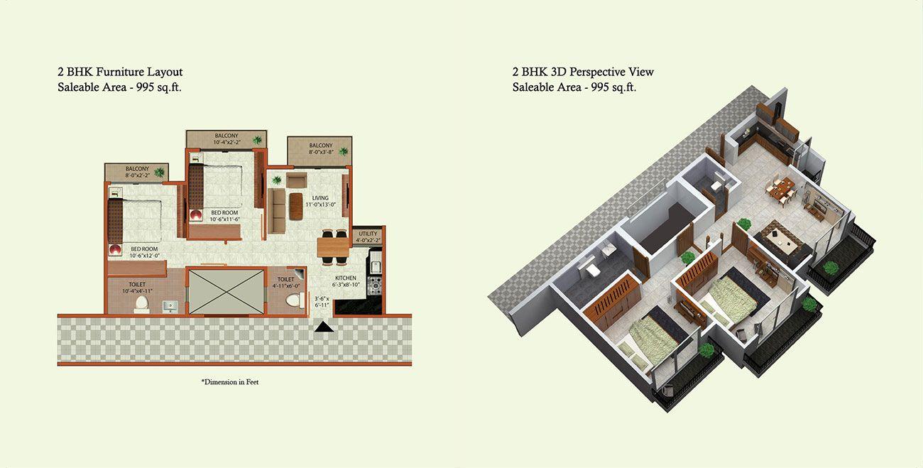 Expat Properties - Vida, Taloja, Navi Mumbai : Floor Plans