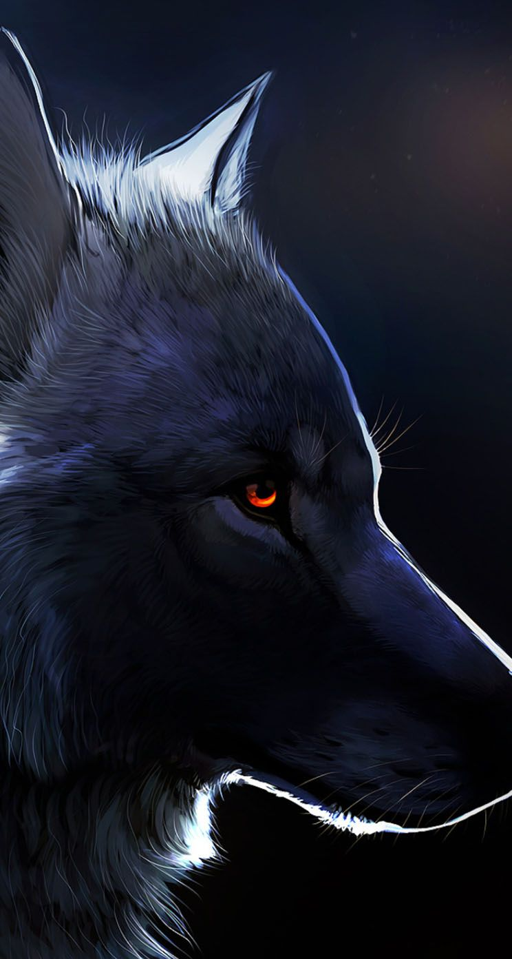 Red Eyed Black Wolf Anime Wolf Wolf With Red Eyes Wolf Wallpaper