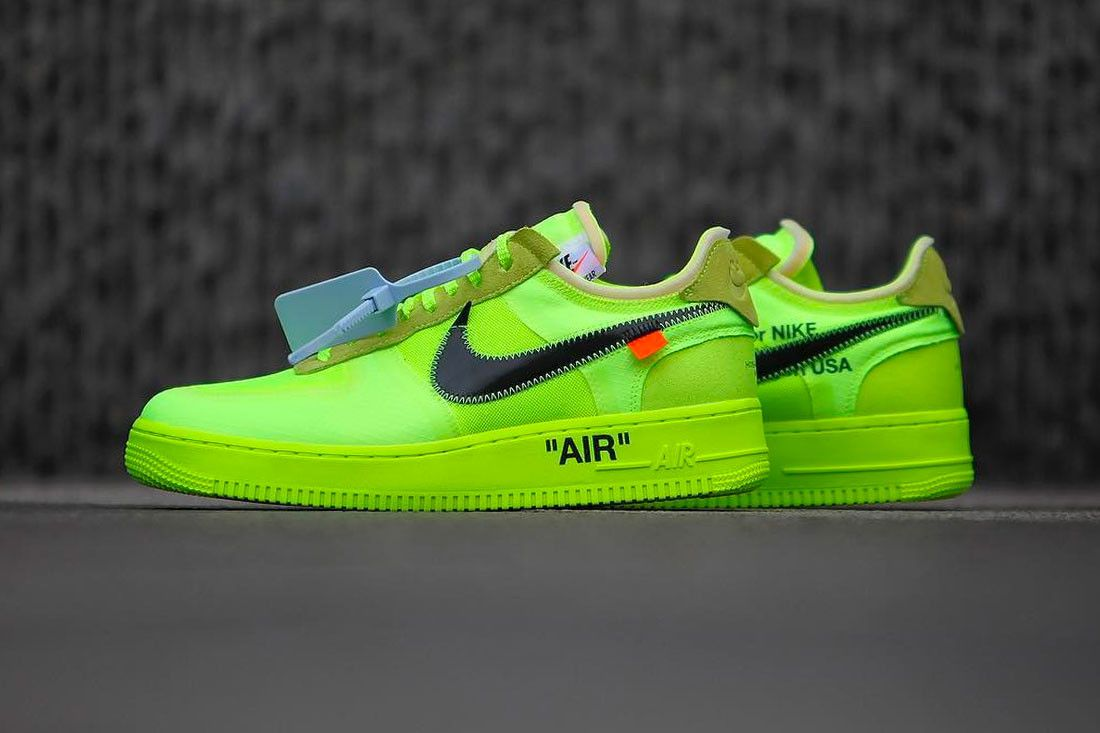 nike air force 1 off white giallo fluo