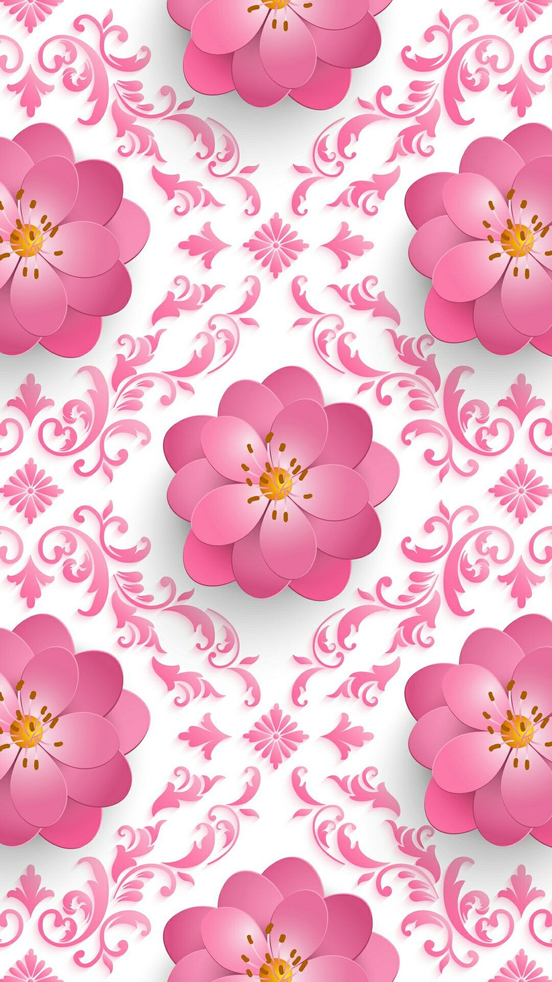 Pink 3d flower patterns graphicswallpapers pinterest flower pink 3d flower patterns mightylinksfo