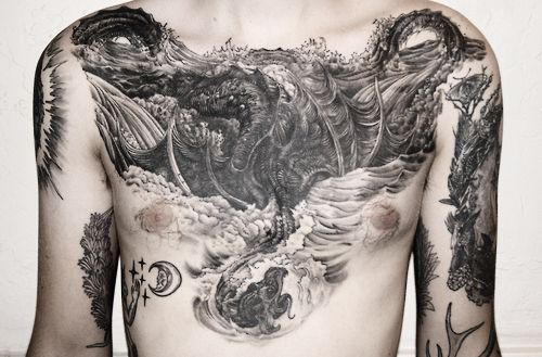 ellamyua:  Bryan Proteau's leviathan chestpiece by FeigrAdapted from Gustave Dore