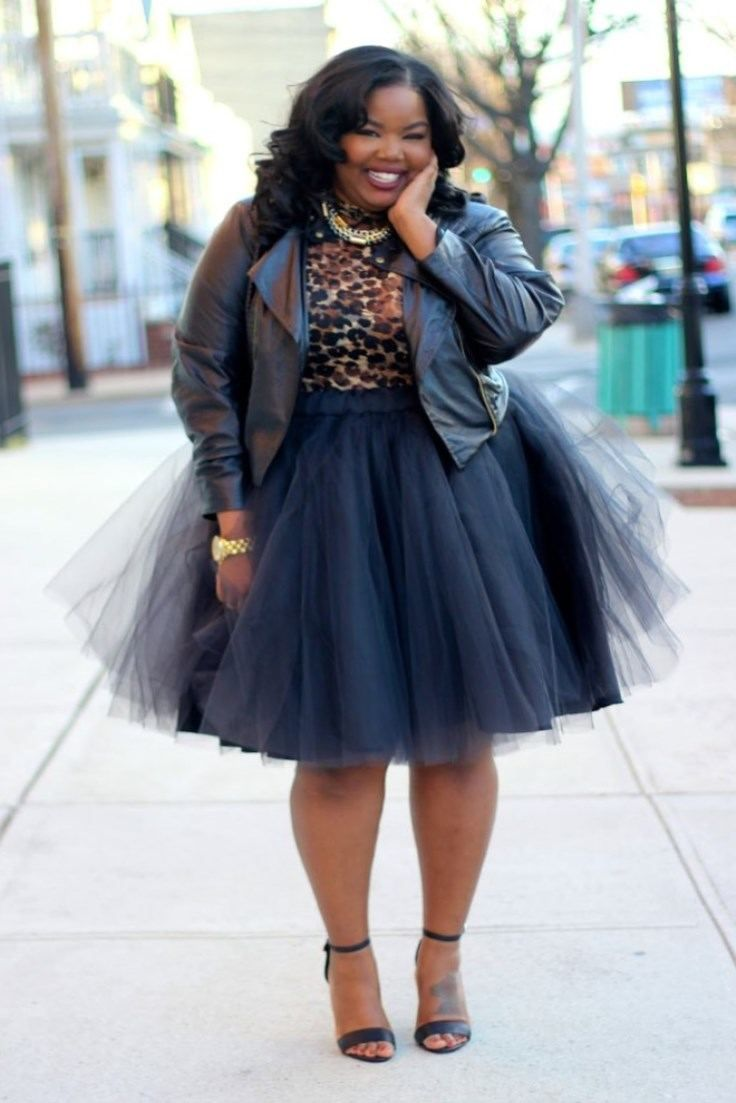 Curvy Girl Outfit Idea Plus Size Fashion Plus Size Tulle Skirt Outfit Plus Size Skirt Plus ...