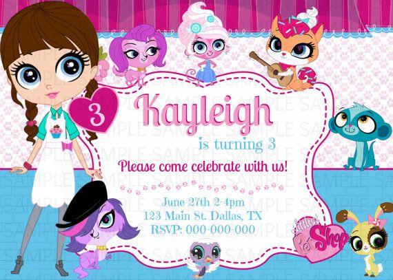 Littlest Pet Shop Birthday Invitation By KaitlinsKardsNMore 800