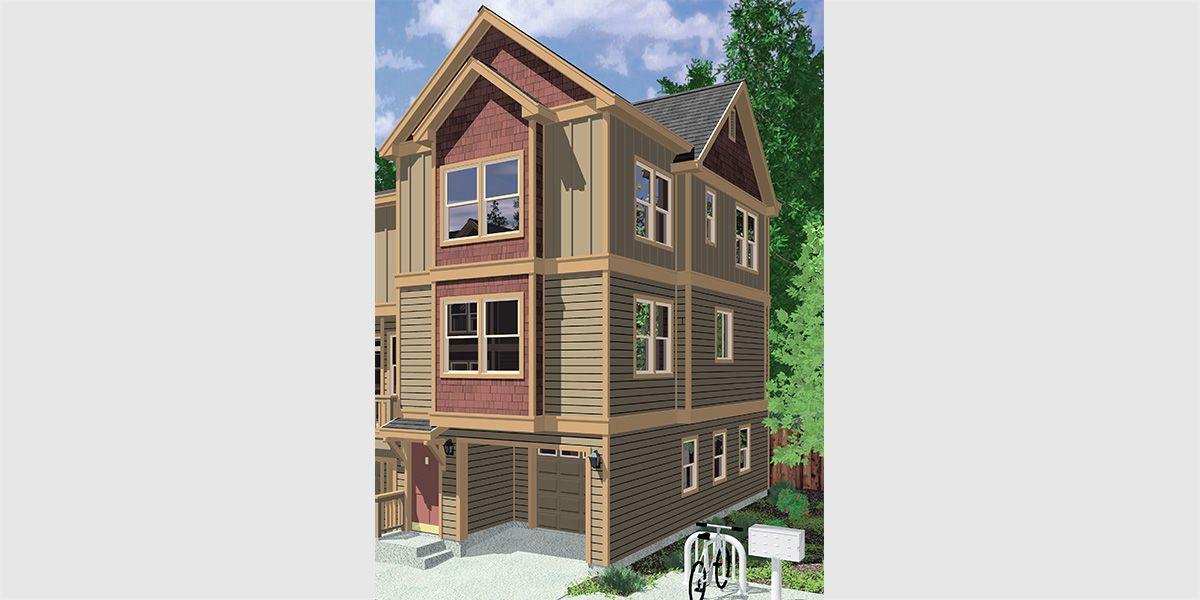Narrow Lot Duplex House Plans Narrow And Zero Lot Line Duplex House Plans Town House Plans Narrow Lot House Plans