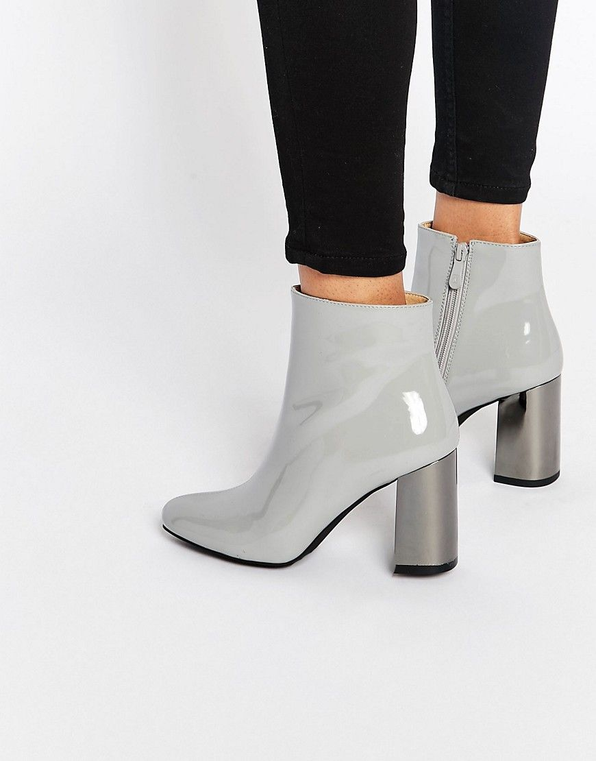 Public Desire Darla Mirror Heeled Ankle Boots | ASOS, Shoes and ...