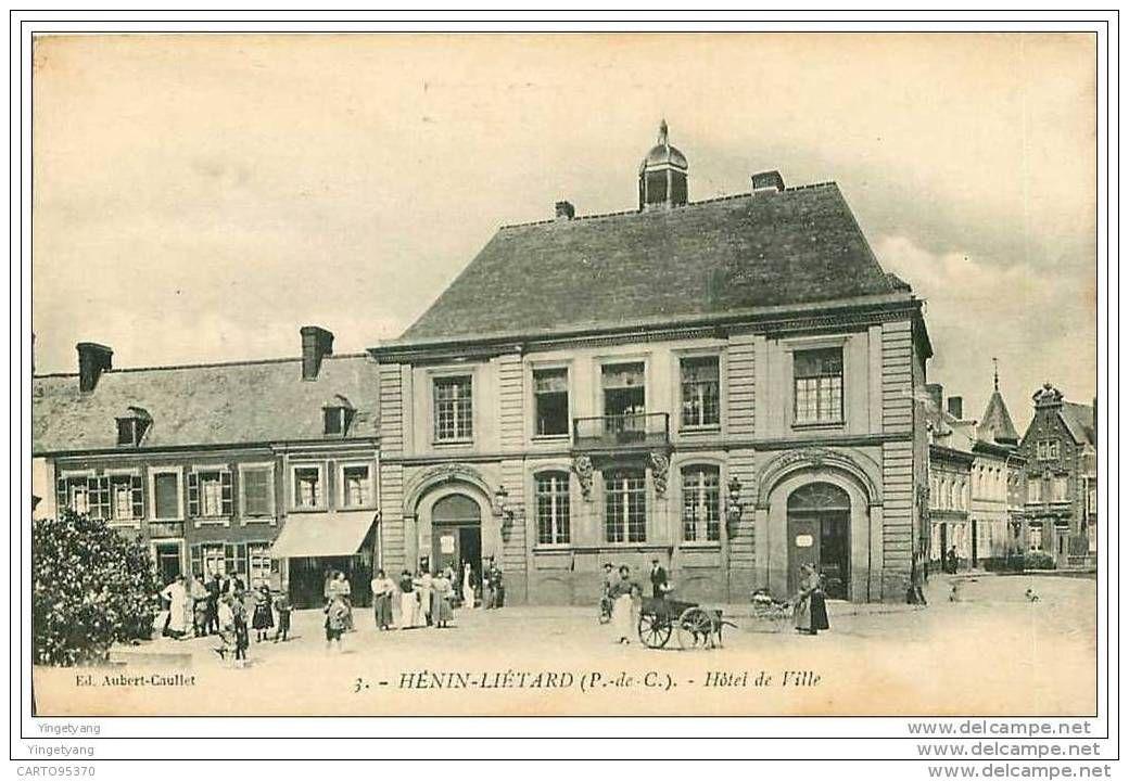 62.HENIN-LIETARD.HOTEL DE VILLE.VOITURE A CHIEN? - France
