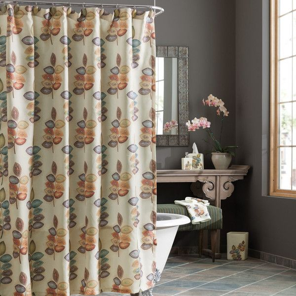 Amazing Unique Fall Leaves Shower Curtain In Zen Bathroom... Sophisticated Fall Shower  Curtains For
