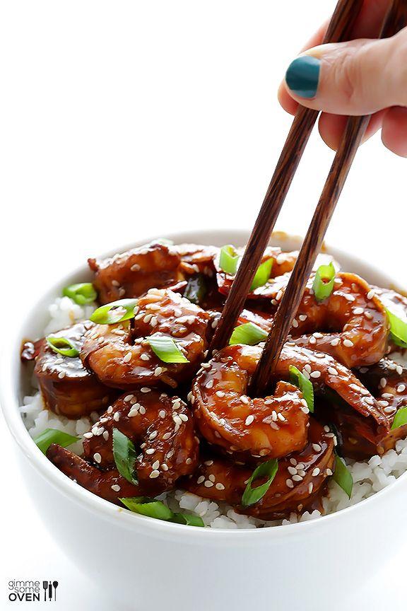 Easy Hoisin Shrimp by gimmesomeoven #Shrimp #Hoisin #Quick #Easy