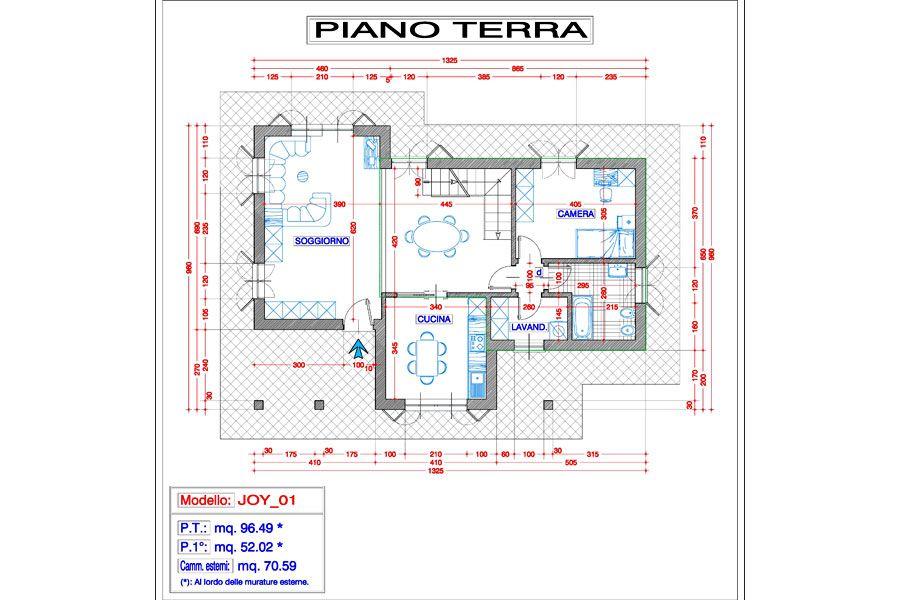 Progetto joy 01 progetti da realizzare villette a due - Progetto casa due piani ...