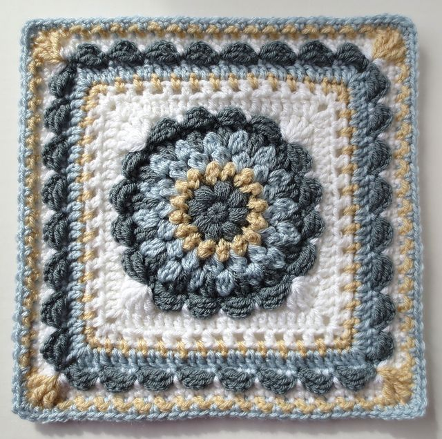 Ravelry: Floral Dimension Afghan Square pattern by Laurie Dale ...
