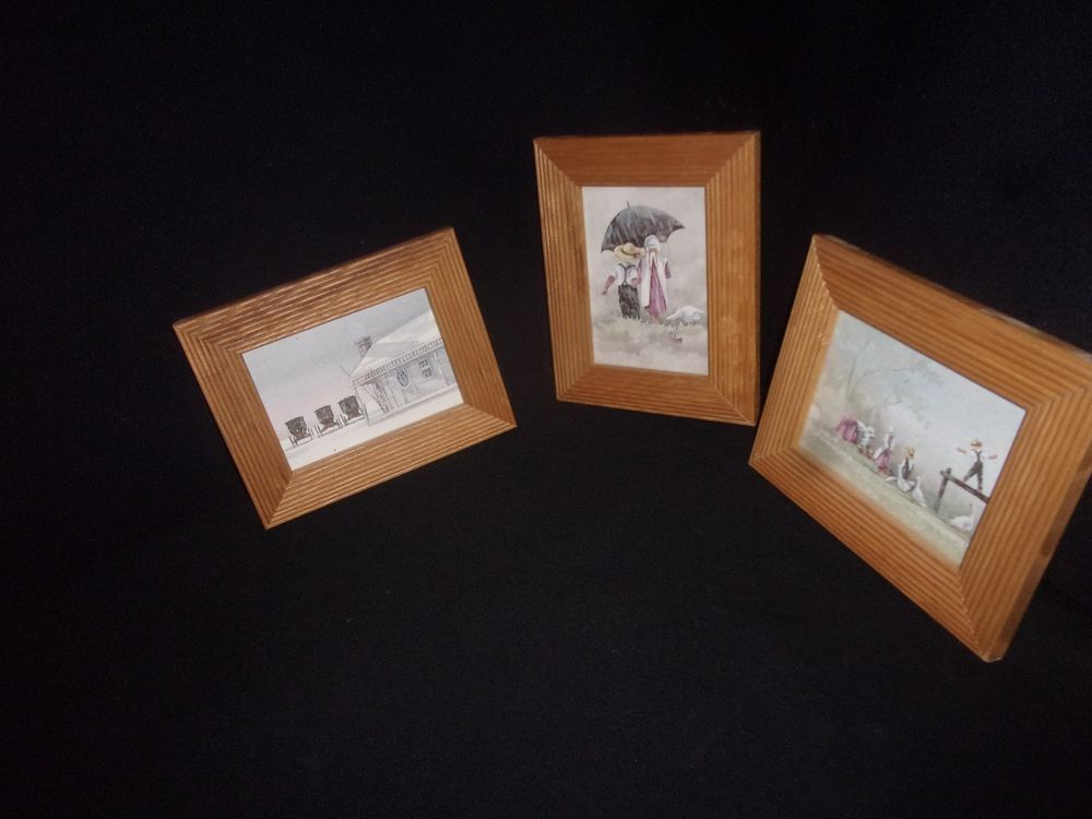 Lot of (3) Vintage Decorel Beaux Arts Pictures - Nice Wooden Frames ...
