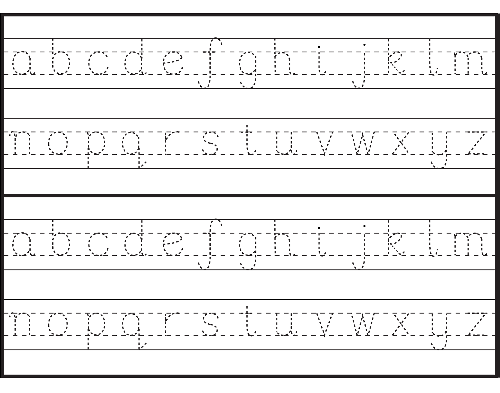 Letter Tracing Sheets Printable | Alphabet and Numbers ...