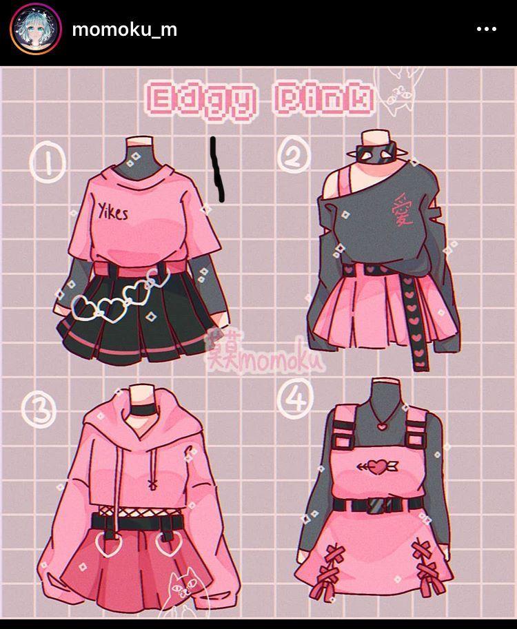 E d g yp i n k roupas de personagens designers de
