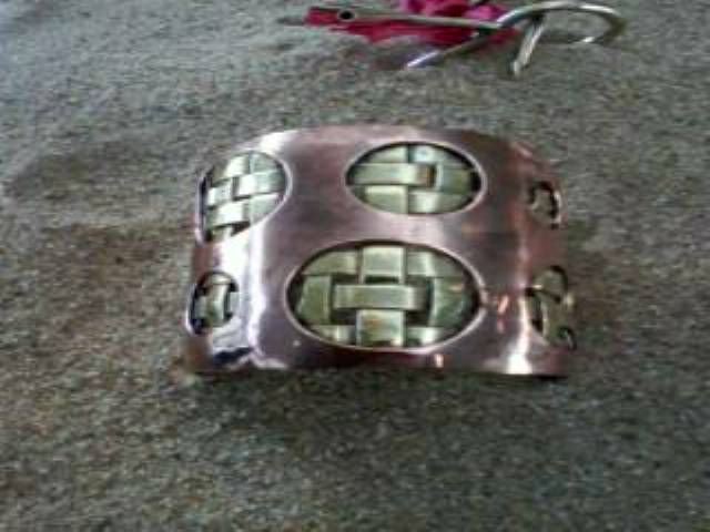 brazalete cobre y bronce