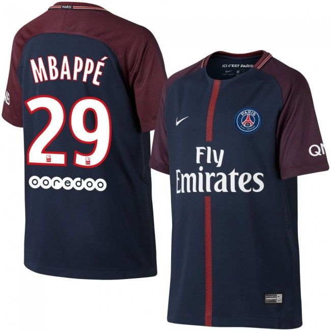 Camiseta del PSG 2017-2018 Local + Mbappe 29 (Dorsal Oficial)  fashion   style  football  shirt  psg a285bab8d6c4d