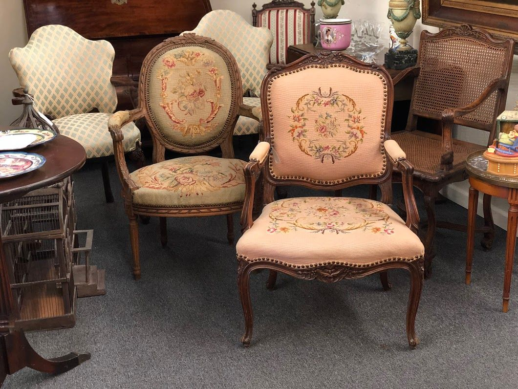 Antique French Needlepoint Chair Louis French IV Style $495 Other From  Prestigious Dallas Estate $499 Dealer - Antique French Needlepoint Chair Louis French IV Style $495 Other