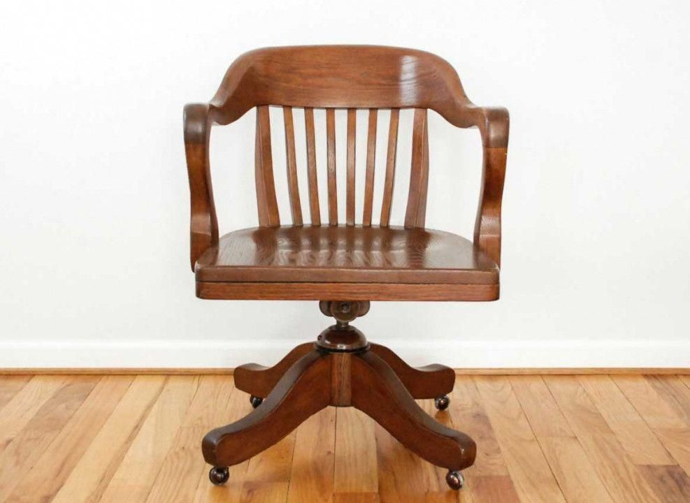 Old Wooden Desk Chairs For Sale Best Led Desk Lamp Officechairsforsale Wood Office Chair Antique Desk Chair Wooden Office Chair