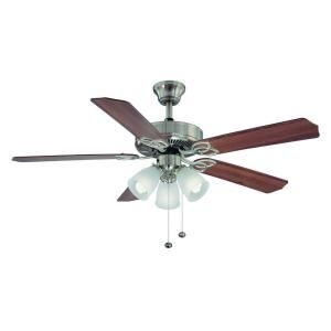Hampton Bay Brookhurst 52 In Brushed Nickel Ceiling Fan The