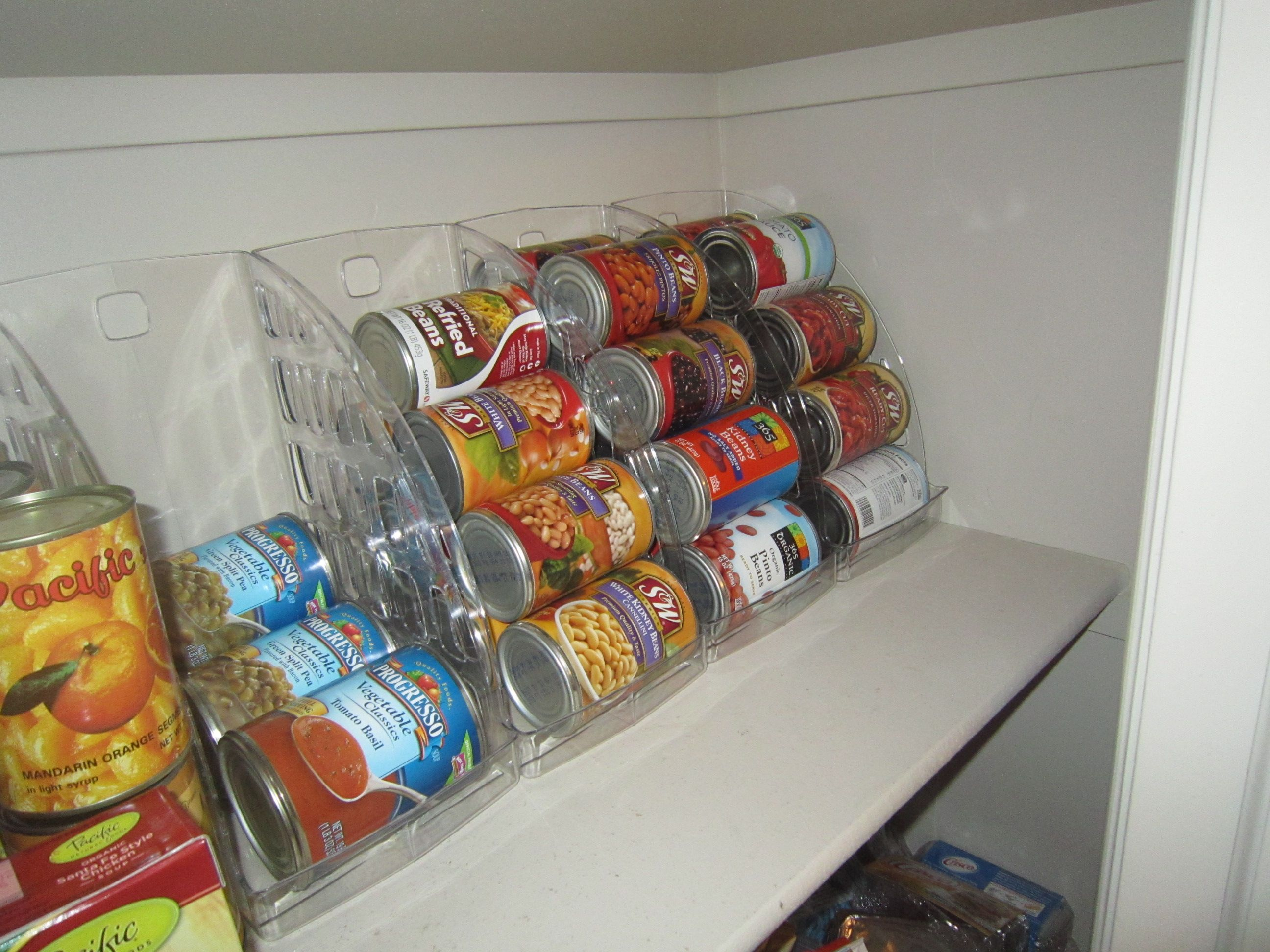 Pantry Can Organizer Jumbo Sized Magazine Holders