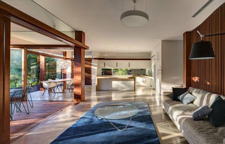 Wohnzimmer Teppiche bestimmen die Atmosphäre im Raum Pinterest - wohnzimmer modern grau