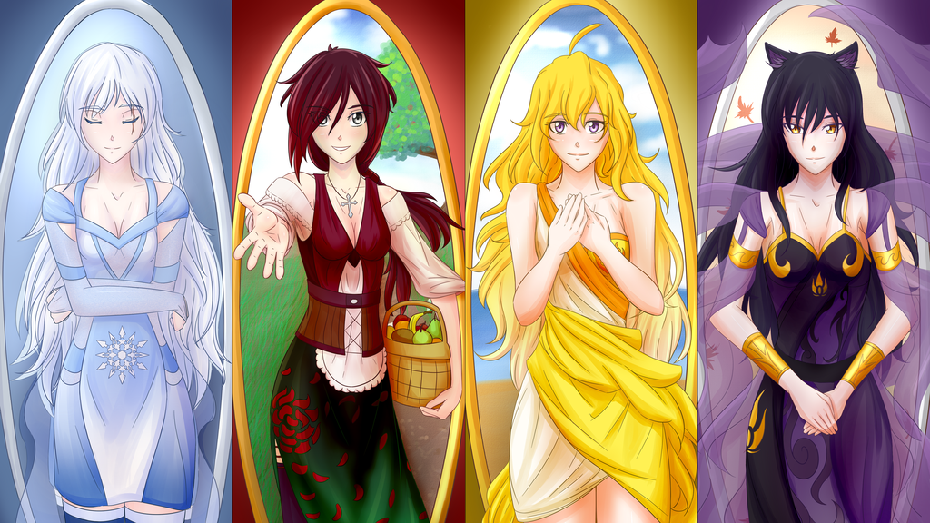 rwby maidens the four seasons weiss as winter ruby as. Black Bedroom Furniture Sets. Home Design Ideas