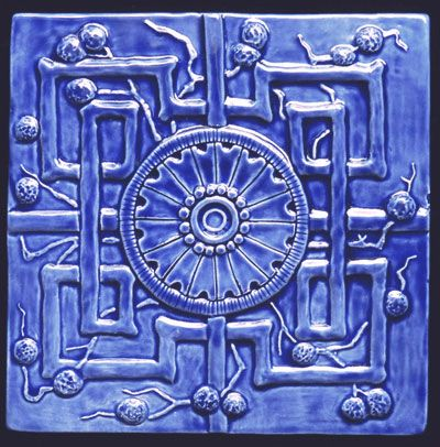 Decorative Relief Tiles Enchanting 6X6 Relief Carved Oriental Art Deco Reproduction Decorative Review
