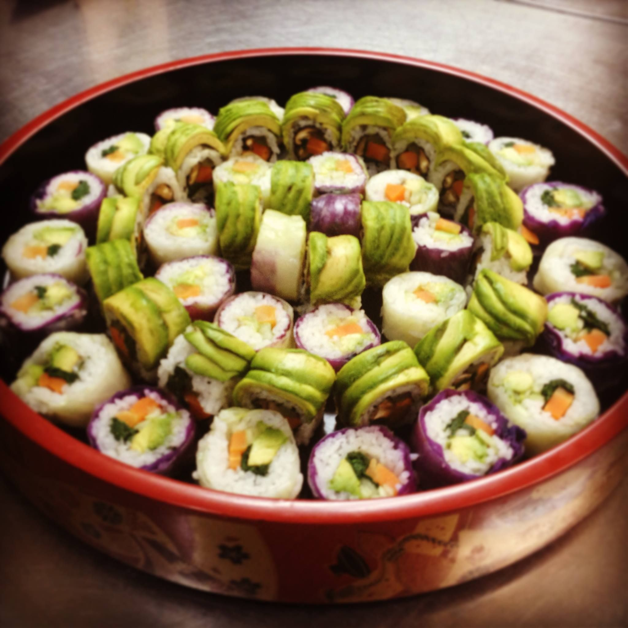 Veggie Rolls Sushihana Japanese Restaurant San Antonio