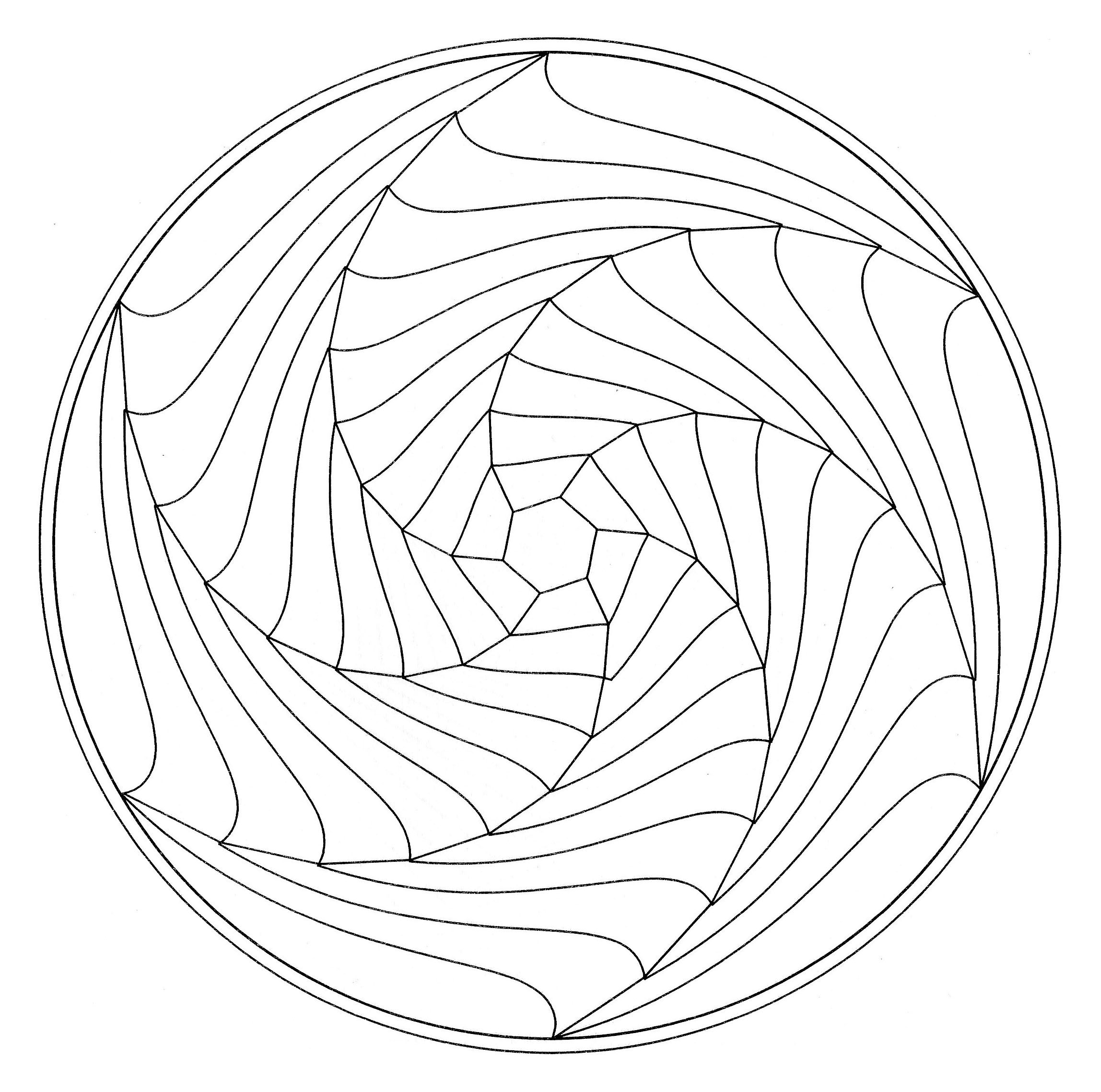 A simple optical illusion in a Mandala, From the gallery : Mandalas ...