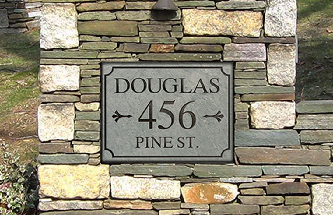 stone house number plaque | 3 | Pinterest | Stone houses, Diy house