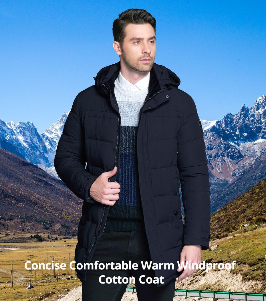 2018 Soft Fabric Winter Men S Jacket Thickening Casual Cotton Jackets Winter Mid Long Parka Men Brand Clo Mens Winter Fashion Mens Fashion Smart Winter Jackets [ 1050 x 930 Pixel ]