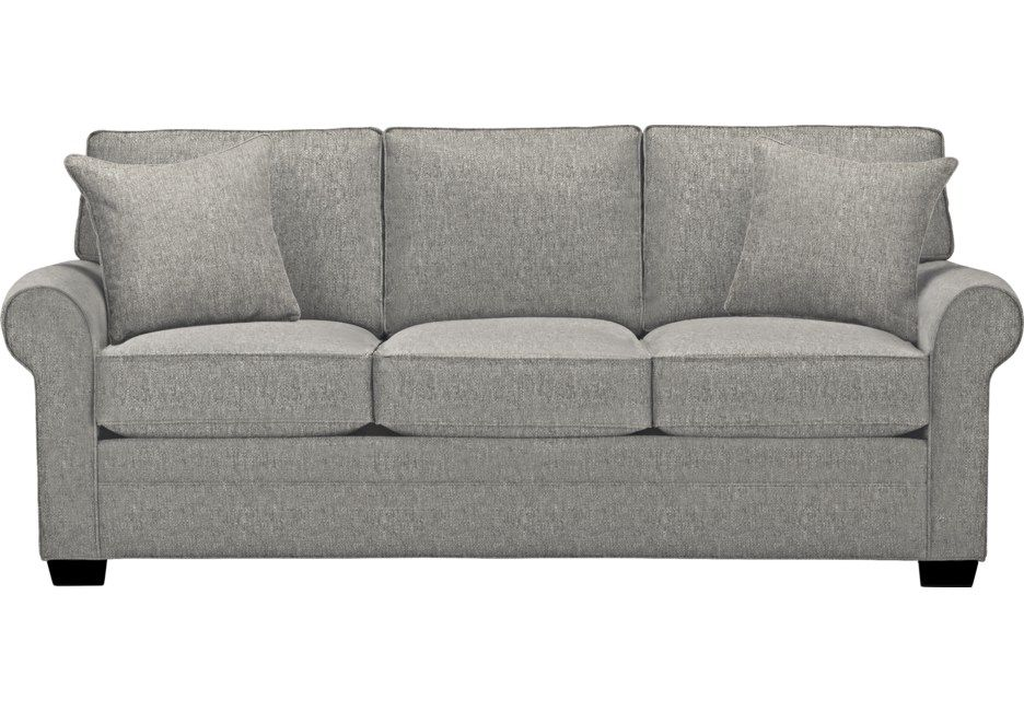 Cindy Crawford Home Bellingham Gray Textured Sofa In 2019 Products Sofa Furniture Sofa