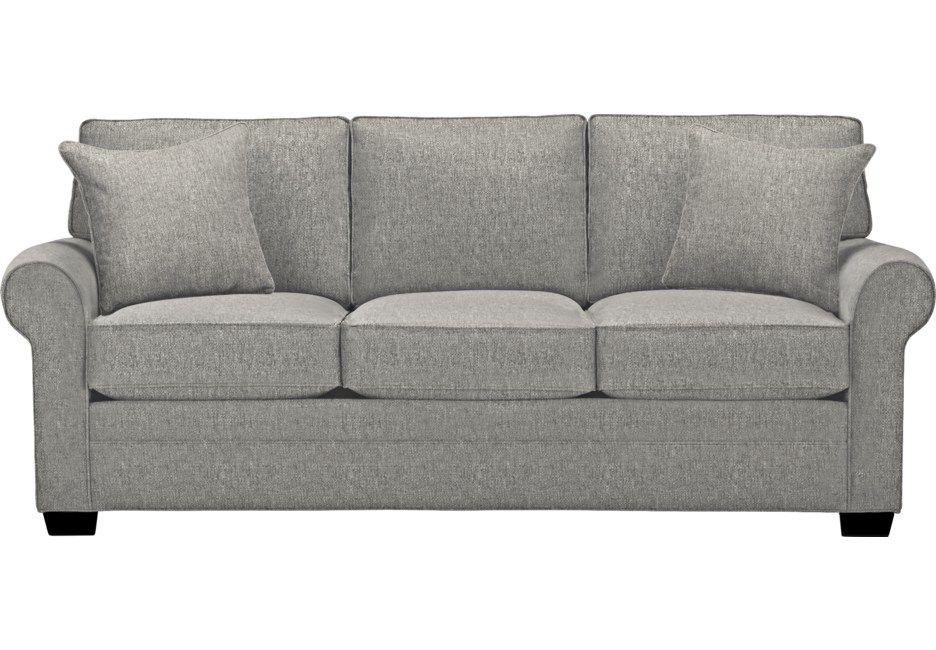 Cindy Crawford Home Bellingham Gray Textured Sofa Sofa Furniture Living Room Furniture
