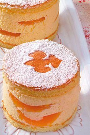 Fruchtig frische Käse-Sahne-Törtchen mit Aprikosen #donutcake