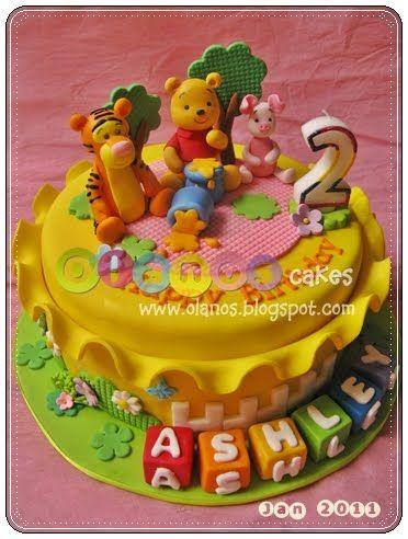 Winnie the pooh by olanos cakes kindertorten pinterest kindertorte torten und kinder torten - Winnie pooh kuchen deko ...