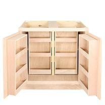 Kitchen Multi Storage Base Cabinet | Unfinished Oak | 36 ...