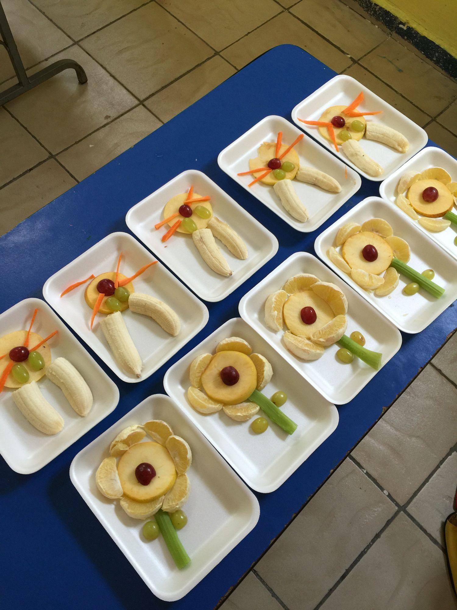 Figuras con frutas y verduras