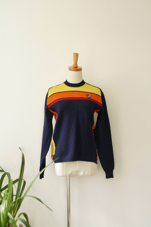 Vintage 70's knit striped sweater sz M G4PiALix