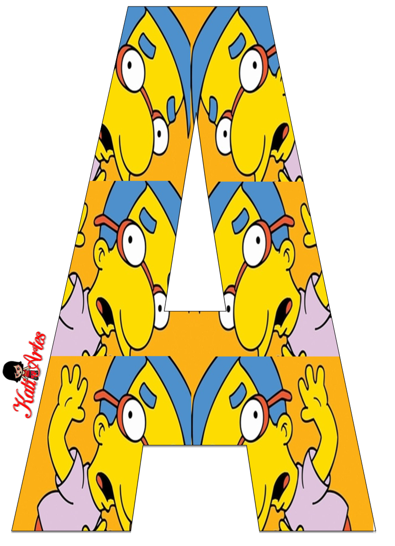 Sgblogosfera Maria Jose Argueso Abecedarios De Dibujos Famosos Los Simpson Los Simpson Cumpleanos Personajes De Los Simpsons