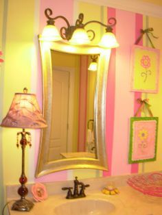 Pink And Yellow Bathroom