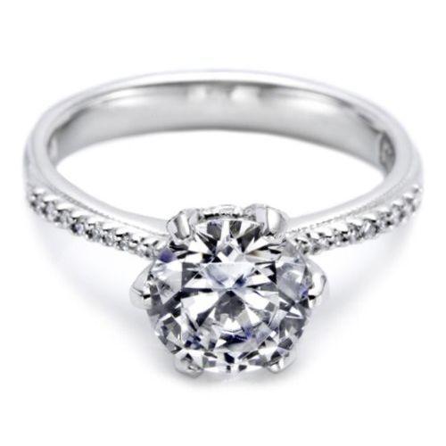 fe2cf8bb3eb30 Simply Tacori 18 Karat Diamond Solitaire Engagement Ring 2507RD8 in ...