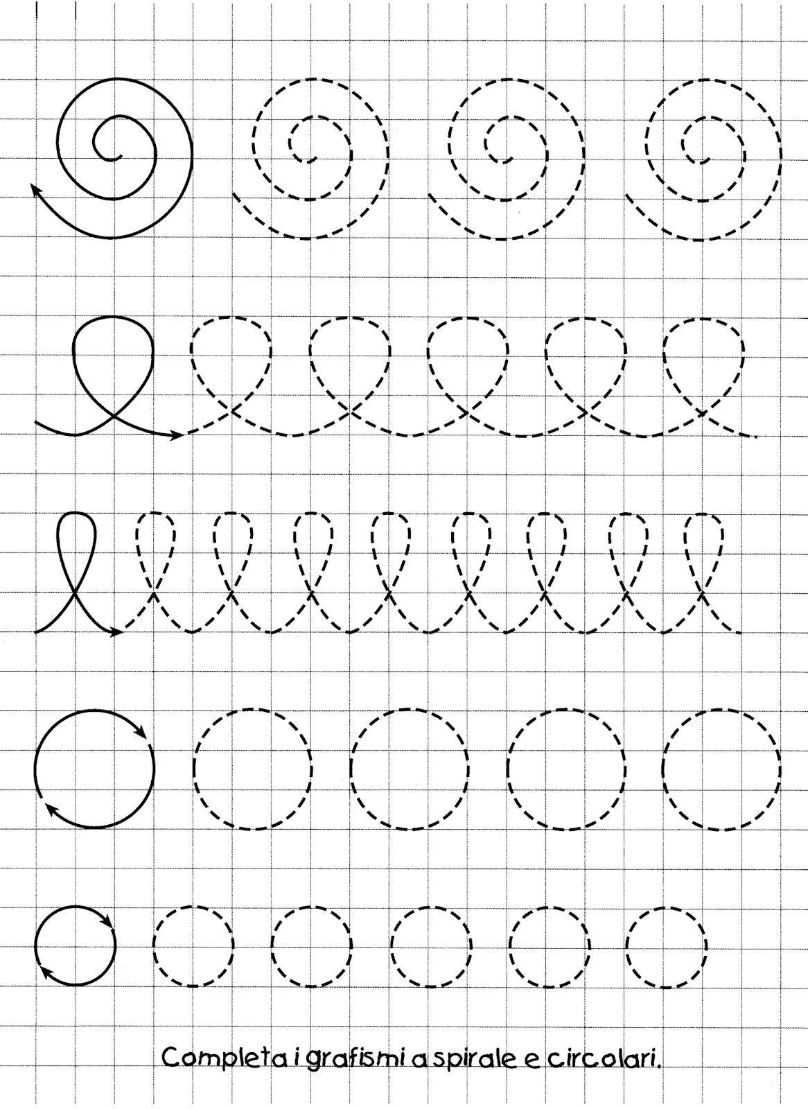 4 Preschool Worksheets Lines