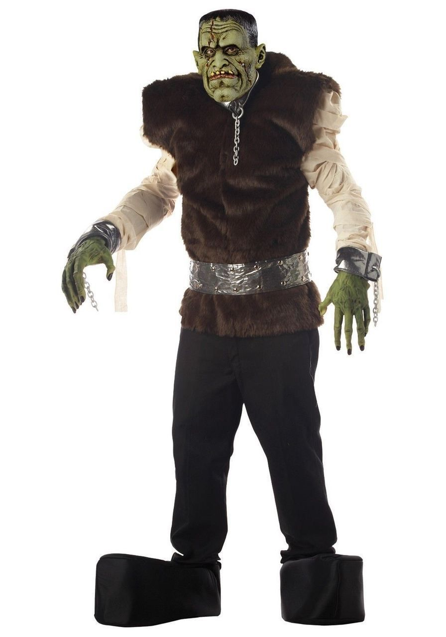 06e6795a827 Large Mens Frankenstein s Lab Monster Deluxe Halloween Fancy Dress Costume  - The Dragons Den Fancy Dress